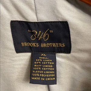 Brooks Brothers Suits & Blazers - Brooks Brothers Tan Linen/Cotton Sportcoat